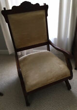 Victorian/Eastlake Chair Cherry/Mahogany/Walnut Hand-tied Springs Antique