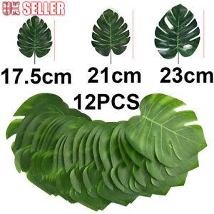 12X Decoration Tropical Beach Party Foliage Artificial Hawaiian Leaf Jungle Palm