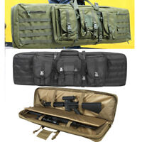 """Heavy Duty Tactical 36"""" 42"""" Padded Double Carbine Rifle Gun Case Weapons Bag US"""
