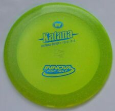 Innova Metal-Flake Champion Katana 171.99 Grams Lemon-Lime w/Blue Hot-Stamp