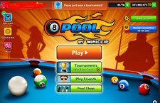 8 ball pool coins - 1 billion coins (new account or tranfer)