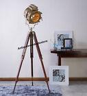 NAUTICAL DESIGNERS LAMP SPOTLIGHT SEARCHLIGHT WITH TRIPOD STAND ROYAL DECORATIVE