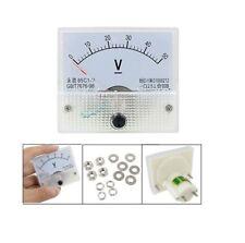 DC 50V Analog Panel Volt Voltage Meter Voltmeter Gauge 85C1 White 0-50V DC  UK