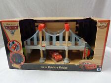 Disney Pixar Cars 2 Tokyo Rainbow Bridge Toys R Us Wood Collection Playset NEW
