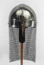Medieval Steel Viking Nasal Helmet w/Chainmail  Hand Forged  sca helm armor d1