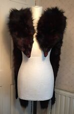 Vintage Pair of 1910s 1920s Real Fur Red Fox Stoles Wraps Boa Collar Rare Old