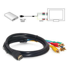 1.5M Component HDMI to 5 RCA RGB Adapter Cable Converter HDTV Cord Video Audio c