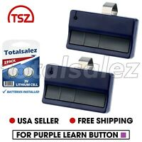 2 Replacement Blue for Liftmaster 373lm Chamberlain Craftsman 953D 953CD Remote
