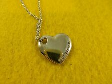 Genuine Sterling Silver Tiffany & Co. Heart Pendant and Tiffany & Co. curb chain