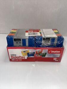 """Imation Rainbow 3.5"""" Floppy Diskettes 48 IBM Formatted 1.44MB 2HD - OPEN but NEW"""