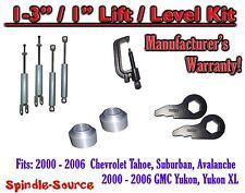 "2000 - 2006 CHEVY GMC 1500 SUVs tahoe 1-3"" Keys / 1"" Leveling Kit Tool + SHOCKS"