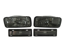 Smoke Bumper Signal + Side Marker Lights Lamps For 85-92 Chevrolet Chevy Camaro