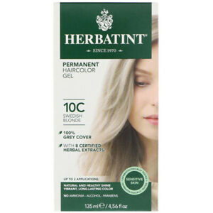 Herbatint Permanent Hair color 10C Swedish Blonde, Clearance for damaged box