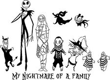 NIGHTMARE BEFORE CHRISTMAS JACK (CREATE YOUR OWN) FAMILY CAR WINDOW DECAL