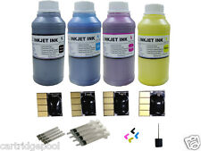 4 chips + 4x250ml pigment ink for HP 932 933 OfficeJet 6100 6600 6700 Plugs/D/S