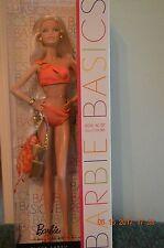 Barbie Basics 2011 Model No. 07—Collection 003 orange swimsuit blonde