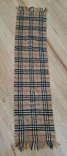 Vintage C-TK 83 Tag Early Burberrys Classic Pure Cashmere Scarf Plaid Camel