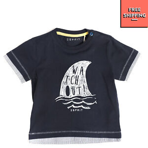 ESPRIT T-Shirt Top Size 6M / 68CM Coated Front Short Sleeve Crew Neck
