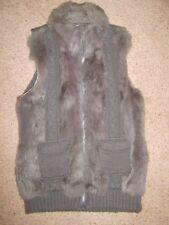 Rabbit Fur Collared Waistcoats for Women