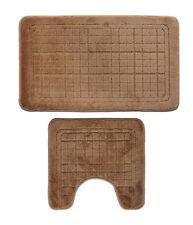 Bathroom Mats Set 2 Piece, Extra Soft Latex Backing Non Slip Bathroom Rug Mat