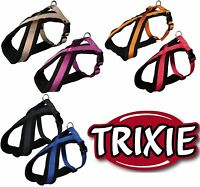 TRIXIE DOG PREMIUM TOURING HARNESS SOFT THICK FLEECE PADDING STRONG ADJUSTABLE