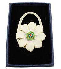 Sac à main Porte-sac Crochet Avec Herriod dans boîte cadeau, fleurs blanches