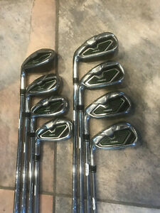 TaylorMade RBZ RocketBallz Left Handed Iron Set 4-PW & AW Stiff Flex Steel