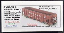 LMH Funaro F&C 8031 PENNSYLVANIA  H25 4-Bay Hopper Car  PRR Shadow Keystone 1-PC