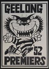 1952 Geelong Cats Premiers Weg Poster Premiership Grand Final