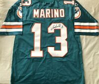 Dan Marino signed auto Miami Dolphins authentic Starter aqua stitched jersey JSA