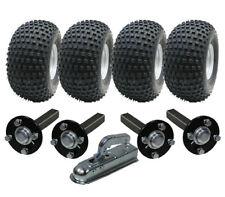double essieu ATV remorque kit - Quad - 4 roues + quatre moyeu / + attelage