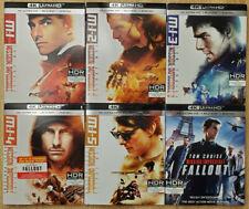 Mission: Impossible 1,2,3,4,5,6 4K (6x 4K + 10x Blu-rays + Digital +Slip Covers)