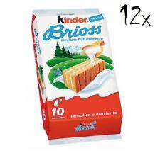 FERRERO Kinder Brioche Milch 12 Packungen mit 350 Gr jedes
