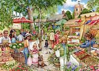 NEW! Falcon de luxe Farmers Market by Debbie Cook 1000 piece jigsaw puzzle
