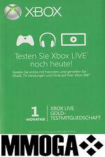Xbox Live Gold Mitgliedschaft 1 Monat Code MS Xbox 360 & Xbox One Ein Monat Key