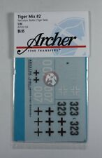 Archer 1/35 German Tiger I Tank Markings WWII Mix No.2 (3 tanks) [Decal] AR35156