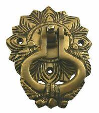 Flower Design Antique Vintage Finish Handmade Solid Brass Door Bell & Knocker N5