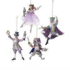 "KURT ADLER 6"" NUTCRACKER SUITE BALLET DELUXE 4 PIECE XMAS ORNAMENT SET NEW 2017"