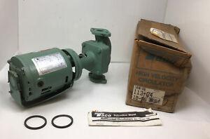 NEW Taco 113-C4, Series 100, Cast Iron Three-Piece Circulator Pump, 1/8 HP, 115V