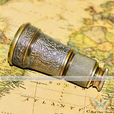 Brass Antique Style Kelvin & Hughes Engraved Monocular Travelling Pirate Scope