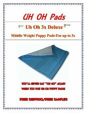 """150CT 23x36"""" DELUXE 2X Uh Oh PUPPY TRAINING  PADS FOR  DOGS 40LBS. FREE SAMPLES"""