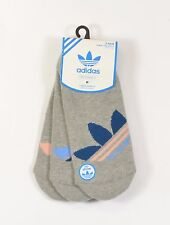 Adidas NO SHOW Womens Cotton Blend 1 Pack/3 Pair Socks Size 5-10 Grey NEW
