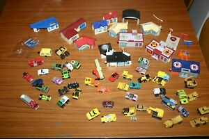 Micro machines bundle ~ 45 Assorted Vehicles + ~13 buildings Garage Heliport