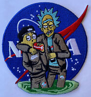 NASA SPACE MORALE COLLECTIBLE - RICK AND MORTY - IRON ON SEW PATCH 3.5""