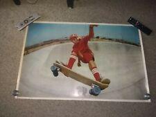 "Vintage Rare 1977 Cookin Skateboard Poster 23""X 35"" Skateboarding Skate Park."
