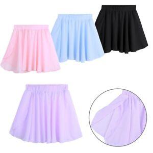 Kids Girls Tutu Chiffon Wrap Skirt Ballet Dance Gymnastics Skating Dancewear