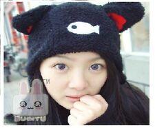 Cartoon Animal Cat Kitten Love Fish Cosplay Earmuff Hat Cap Beanie Anime Costume