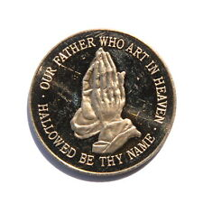 Our Father Who Art in Heaven Pocket Prayer Coin Token