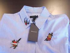 Belstaff  Pincord Stripe Shauna Shirt  Belstaff Patches NWT Euro 44 Large $595