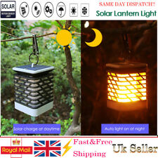 51 LED Solar Flame Flickering Lantern Light Outdoor Landscape Garden Decor Lamp